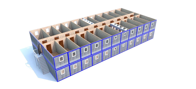 Модульное здание (Д.,Ш.,В.) 26,4*12,0*5,0м