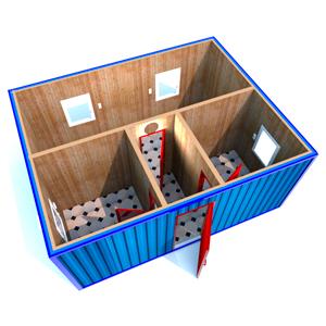 Модульное здание 6000 х 4800 х 2500 мм «СКЛАДСКОЕ ПОМЕЩЕНИЕ»