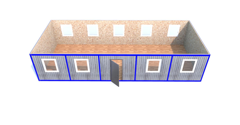 Блок-Модуль (Д.,Ш.,В.) 12,0*5,0*2,5м
