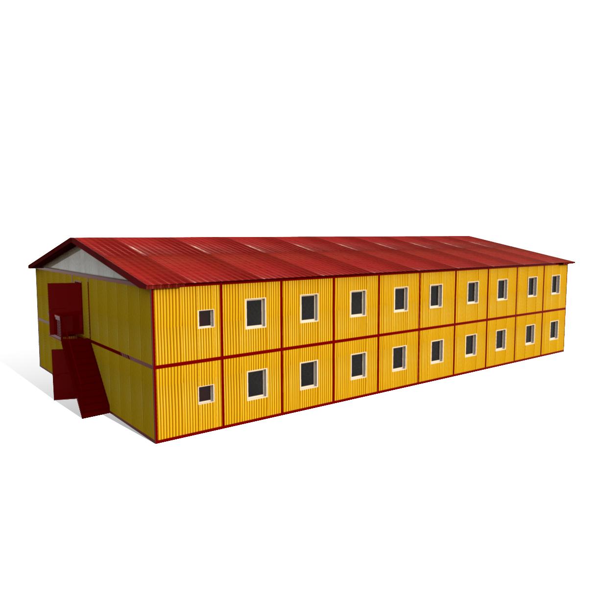 Модульное здание 14000 х 24000 х 5000 мм «2 ЭТАЖНОЕ ЗДАНИЕ»